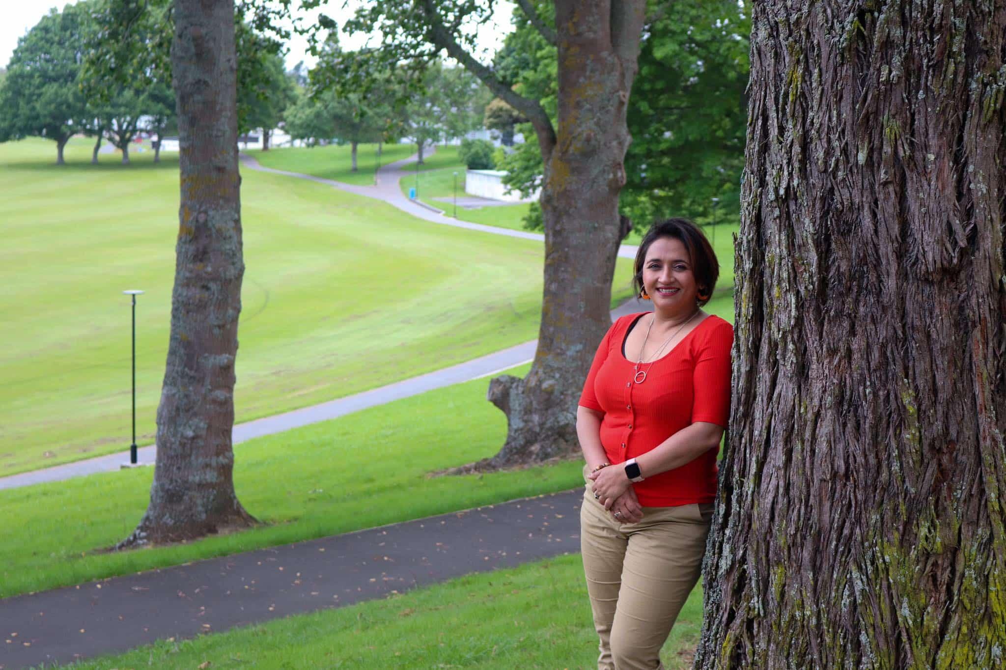Pratishtha standing outdoors in Waikato New Zealand